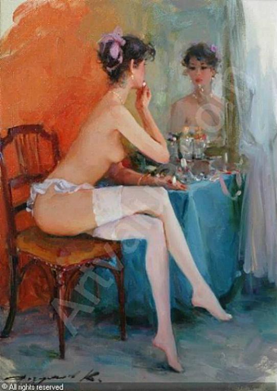 Mujer frente al espejo Konstantin Razumov