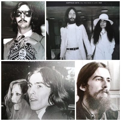 Collage Beatlesongs y La vida de Los Beatles en imágenes
