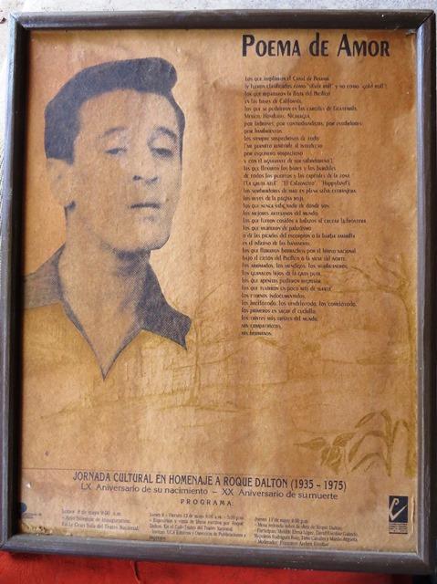 Afiche de Roque Dalton