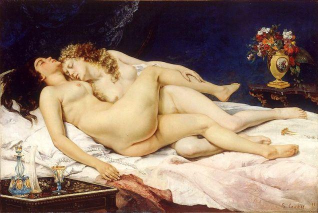 El sueño, de Gustave Courbet (1866). 2