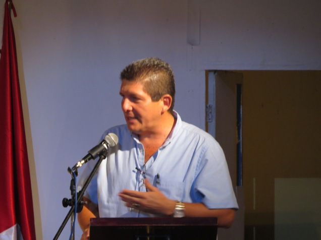 Edgar Bonilla, alcalde de Sensuntepeque. Festival Amada Libertad, 2016.