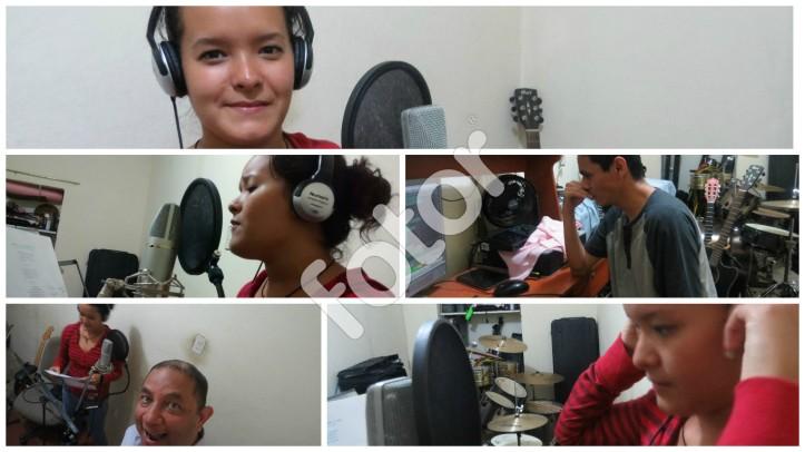 Karla grabando la canción PODRÍA ACOSTUMBRAME A VOS