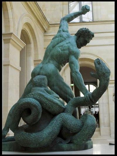 Hércules y la serpiente, por Joseph Bosio (1768-1845)