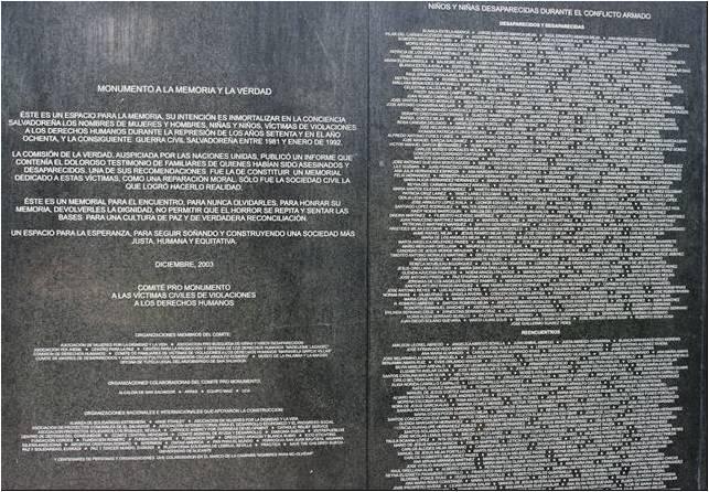 MONUMENTO A LA MEMORIA Y LA VERDAD. El Salvador. Imagen1 (2)