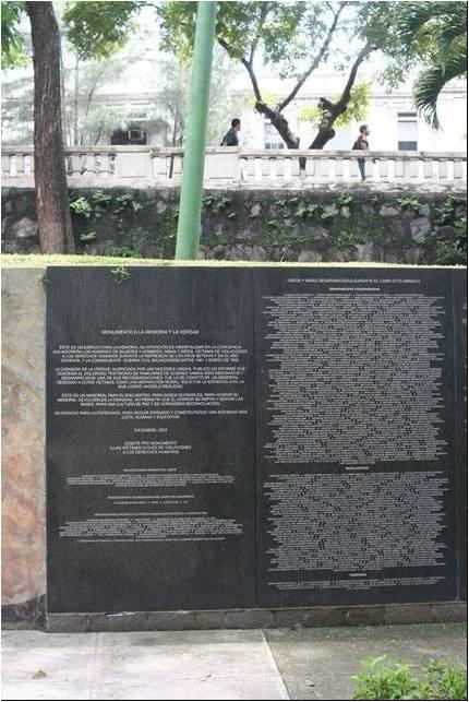 MONUMENTO A LA MEMORIA Y LA VERDAD. El Salvador. Imagen1 (8)